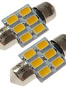 SENCART 2pcs 31mm Auto Lamput 3 W SMD 5730 180 lm 6 LED sisävalot / Ulkovalot Käyttötarkoitus