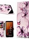 غطاء من أجل Samsung Galaxy A8 Plus 2018 / A3(2017) محفظة / حامل البطاقات / مع حامل غطاء كامل للجسم زهور قاسي جلد PU إلى A3 (2017) / A5 (2017) / A8 2018