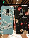 Etui Til Samsung Galaxy S9 Plus / S9 Matt / Inngravert / Moenster Bakdeksel Blomsternaal i krystall Myk TPU til S9 / S9 Plus / S8 Plus