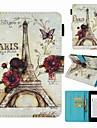 Custodia Per Amazon Kindle PaperWhite 4 Porta-carte di credito / Resistente agli urti / Fantasia / disegno Integrale Torre Eiffel Resistente pelle sintetica per Kindle PaperWhite 4