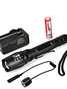 LED Flashlights / Torch LED Cree® XM-L T6 1 Emitters 1000 lm 5 Mode with Battery and Charger Zoomable Waterproof Multifunction
