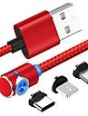 90 градусов магнитный USB-кабель для iphone X XR XS макс. 8 7 6 5 Магнит Micro USB тип C кабель для Samsung Xiaomi Huawei
