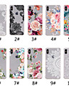 Etui Til Apple iPhone XR / iPhone XS Max Gjennomsiktig / Moenster Bakdeksel Blonde Print / Blomsternaal i krystall Myk TPU til iPhone XS / iPhone XR / iPhone XS Max