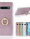 Case For Samsung Galaxy Galaxy S10 / Galaxy S10 Plus Ring Holder / Glitter Shine Back Cover Solid Colored Soft TPU for S9 / S9 Plus / S8 Plus