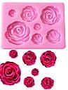 τριαντάφυλλα λουλούδια διαμορφωμένο πυρίτιο σιλικόνης μούχλα μάρκετ μούχλα σοκολάτας