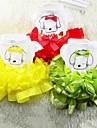 Psi Haljine Odjeća za psa Patterned Bijela Crvena Zelen Miješani materijal Kostim Za Proljeće Ljeto Ženska Slatka Style