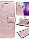 Case For Samsung Galaxy Galaxy S10 / Galaxy S10 E Card Holder / with Stand / Flip Full Body Cases Butterfly Hard PU Leather for S9 / S9 Plus / S8 Plus