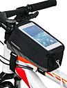 ROSWHEEL Cep Telefonu Çanta Bisiklet Çerçeve Çantaları 5.5 inç Dokunmatik Ekran Su Geçirmez Bisiklet için iPhone 8 Plus / 7 Plus / 6S Plus / 6 Plus iPhone X iPhone XR Siyah Bisiklete biniciliği
