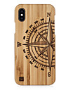 Case For Apple iPhone XS Max / iPhone 6 Embossed Back Cover Geometric Pattern Hard Wooden for iPhone XS / iPhone XR / iPhone XS Max