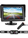 772 4 inch TFT-LCD 480TVL 480 TV-Lines 1/4 tuuman teräväpiirtoinen CMOS-väri Johto 170 astetta 1 pcs 135 ° 4.3 inch Peruutuskamera / Auton peruuttamaton näyttö LED-merkkivalo / Plug and play